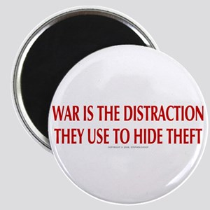 WAR IS THE DISTRACTION Magnet