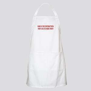 WAR IS THE DISTRACTION BBQ Apron