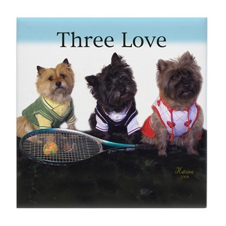 Cairn Terrier Tennis Tile Coaster