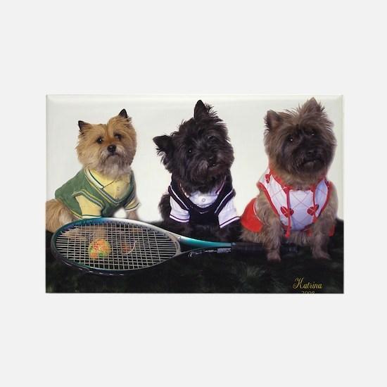 Cairn Terrier Tennis Rectangle Magnet