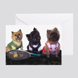 Cairn Terrier Tennis Greeting Card