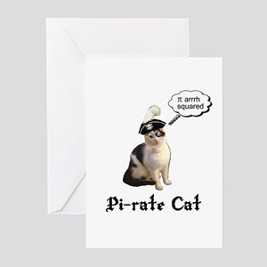 Pi-rate Cat Greeting Cards (Pk of 10)