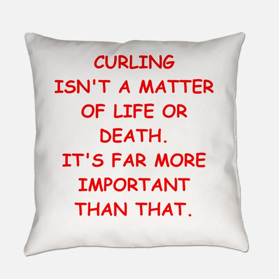 Curling Everyday Pillow