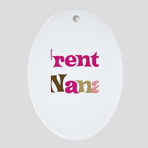 Trent's Nana Oval Ornament