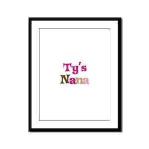 Ty's Nana Framed Panel Print