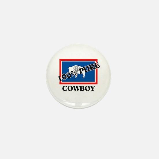 100 Percent Cowboy Mini Button (10 pack)