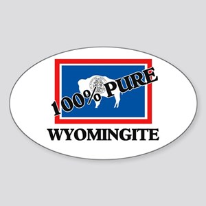 100 Percent Wyomingite Oval Sticker