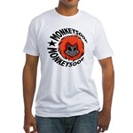 Monkeysoop logo Fitted T-Shirt