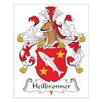 Heilbronner Family Crest Small Poster