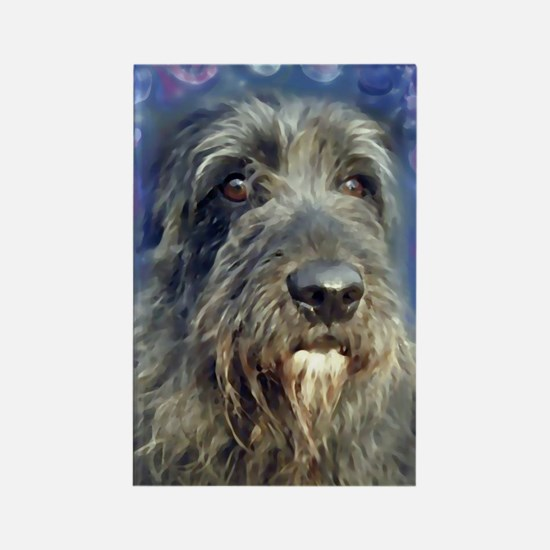 Cute Irish wolfhound art Rectangle Magnet