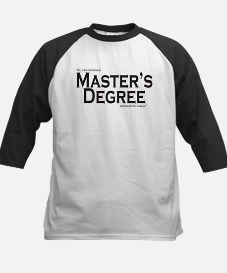 Master's Degree Kids Baseball Jersey