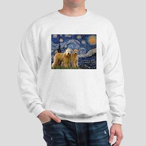 Starry Night & 2 Wheatens Sweatshirt