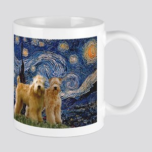 Starry Night & 2 Wheatens Mug