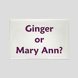 Ginger or Mary Ann? Rectangle Magnet