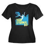 3am Eternal 80s Women's Plus Size Scoop Neck Dark