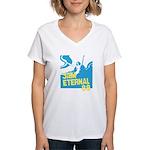 3am Eternal 80s Women's V-Neck T-Shirt