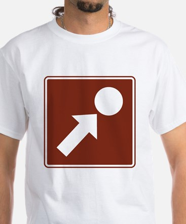 Point of Interest Sign White T-Shirt