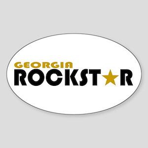 Georgia Rockstar Oval Sticker
