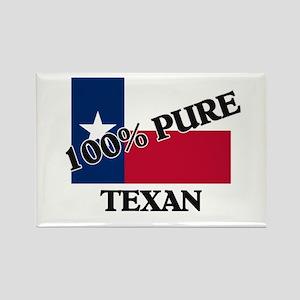 100 Percent Texan Rectangle Magnet