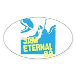 3am Eternal 80s Oval Sticker
