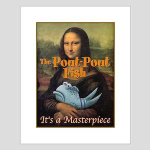 Pout-Pout Mona Lisa Small Poster