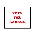 Vote for Barack Framed Panel Print