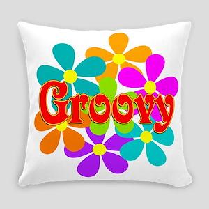 Fun Groovy Flowers Everyday Pillow
