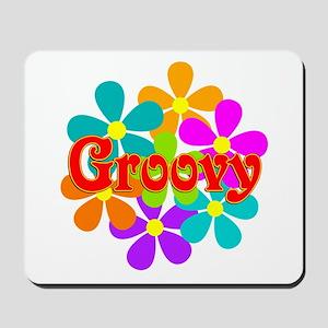 Fun Groovy Flowers Mousepad