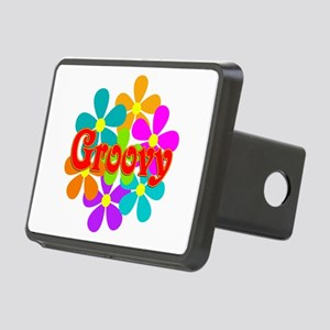 Fun Groovy Flowers Rectangular Hitch Cover