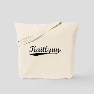 Vintage Kaitlynn (Black) Tote Bag