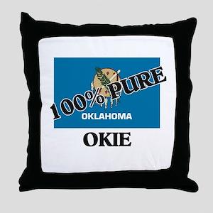 100 Percent Okie Throw Pillow
