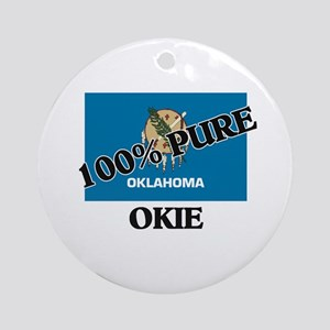 100 Percent Okie Ornament (Round)