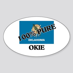 100 Percent Okie Oval Sticker