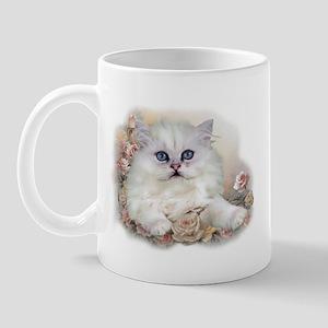 White Persian Kitten Mug