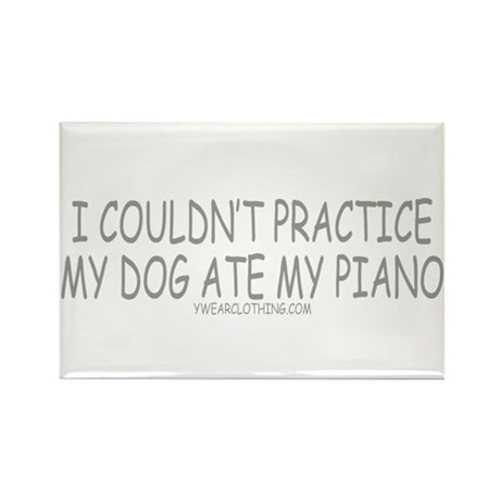 Dog Ate Piano Rectangle Magnet