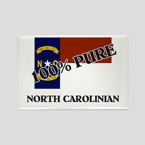 100 Percent North Carolinian Rectangle Magnet