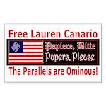 Free Lauren-1 Rectangle Sticker