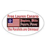 Free Lauren-1 Oval Sticker