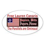 Free Lauren-1 Oval Sticker (10 pk)