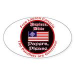 Free Lauren-2 Oval Sticker (50 pk)