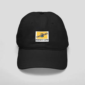 100 Percent Jersey Cow Black Cap