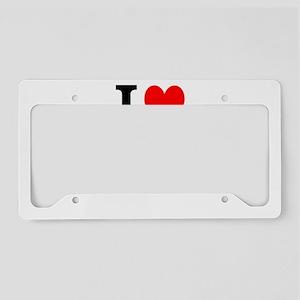 I Love Poland License Plate Holder
