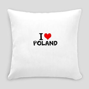 I Love Poland Everyday Pillow