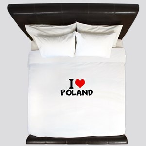 I Love Poland King Duvet