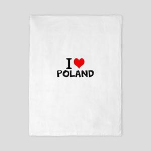 I Love Poland Twin Duvet Cover