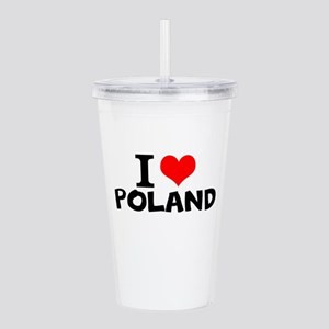 I Love Poland Acrylic Double-wall Tumbler