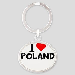 I Love Poland Keychains