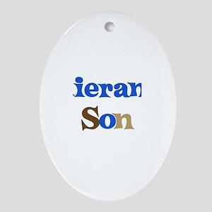 Kieran's Son Oval Ornament