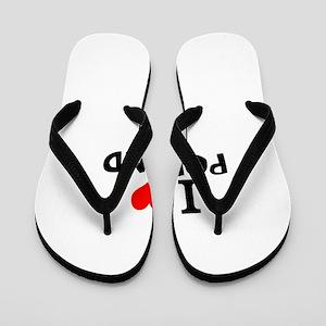 I Love Poland Flip Flops