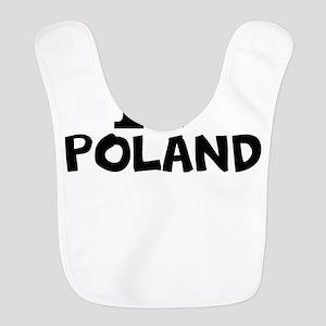I Love Poland Polyester Baby Bib